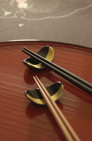 lacquerware: Obon and chopsticks