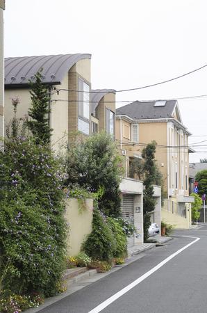 superficie: Seta Setagaya-Ku zona residencial Foto de archivo