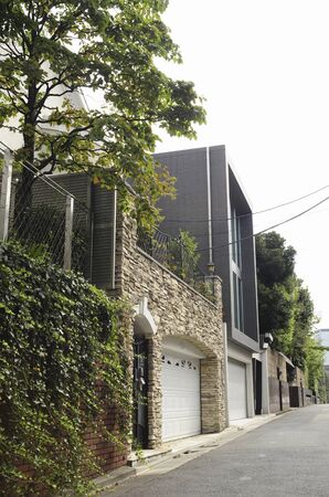 vicinity: Higashi Gotanda 3-chome residential area in the vicinity of Stock Photo