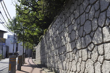 noh: Stone fence and planting