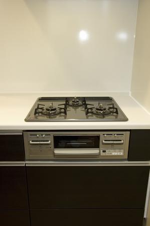 gas stove: Gas stove Stock Photo