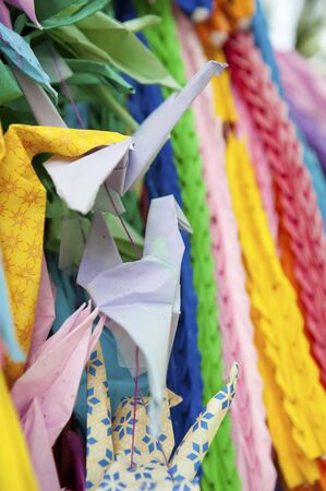 sanyo: Mobilization student memorial tower of the Thousand Paper Cranes