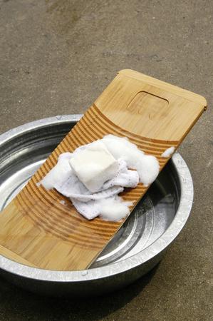 washboard: Washboard and soap Stock Photo