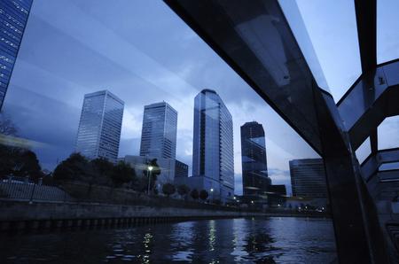水上バスから大阪ビジネ スパーク 写真素材 - 47003260