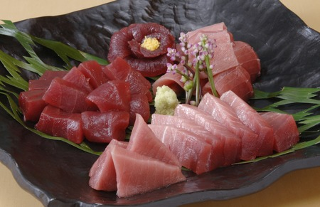 to lean: Tuna sashimi Toro  lean Stock Photo