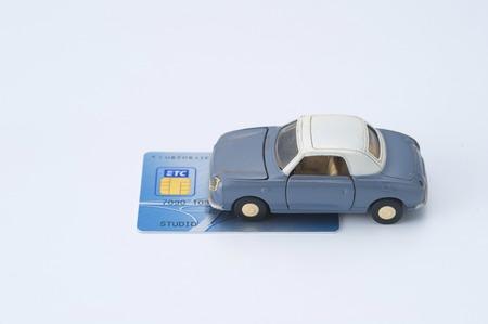 Miniatuur auto's met ETC kaart