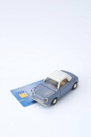 Miniatuur auto's met ETC-kaart