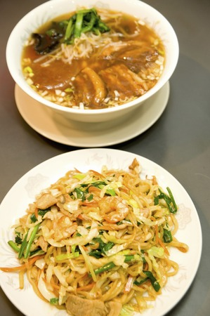 Fried noodles and ramen