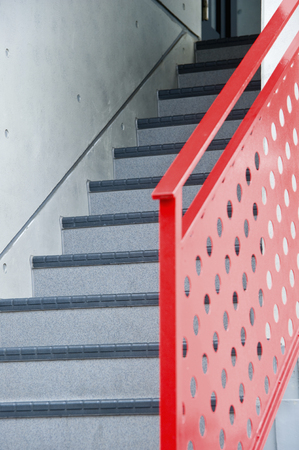handrails: Stairs and handrails Stock Photo