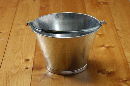 tinplate: Tin bucket Stock Photo
