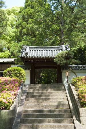 council: Emperor Hanazono Juraku Council on the Mausoleum Stock Photo