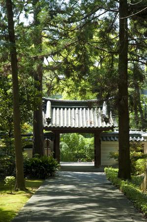 emperor: Emperor Hanazono Juraku Council on the Mausoleum Stock Photo
