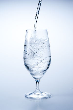 ice water: Ice water glass