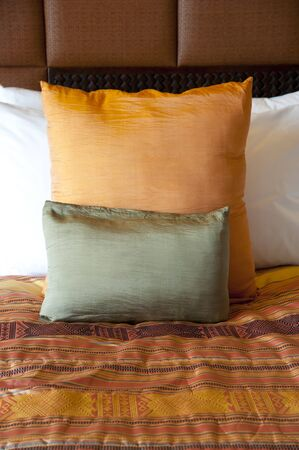 pillow case: Pillow case and bed