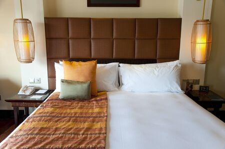 高級ベッド 写真素材