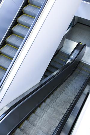 inorganic: Escalator Stock Photo