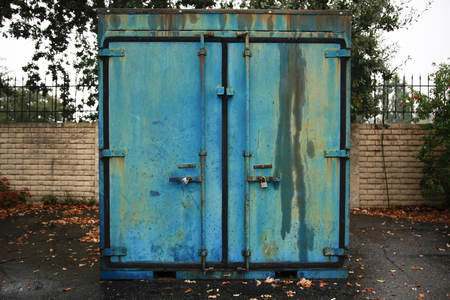 blue steel: Blue iron container