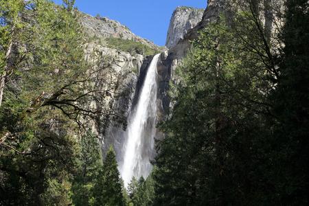 Bridal Veil falls in Yosemite National Park Stock Photo