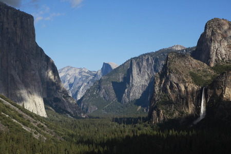 distant spot: Yosemite National Park, view from the tunnel view