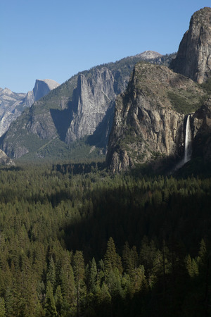 Yosemite National Park, view from the tunnel view