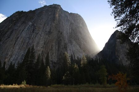 Cathedral Rock that it looked up from El Cap Meadow