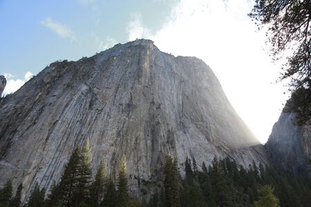 looked: Cathedral Rock that it looked up from El Cap Meadow