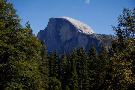 half dome: Half Dome as seen from the Yosemite Valley