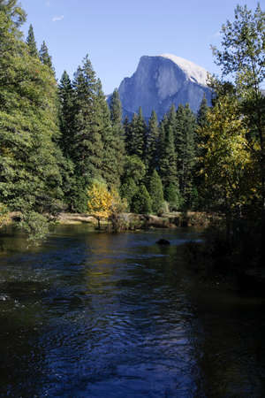 merced: Half Dome as seen from the Merced River