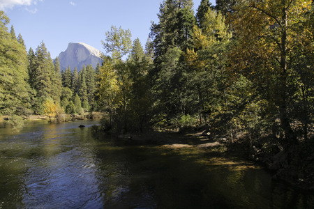 half dome: Half Dome as seen from the Merced River