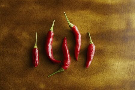 capsicum plant: Red pepper on the dish