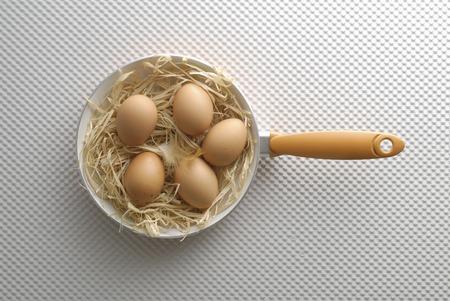 frying: Eggs in the frying pan