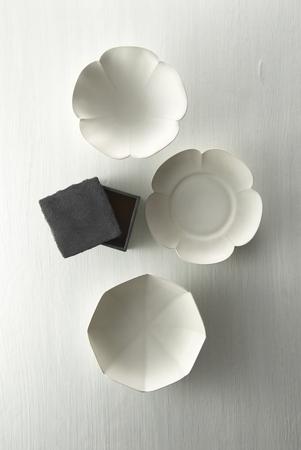 日本製の白い食器