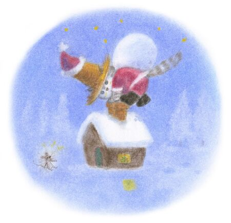 straw hat: Cat Santa Claus was wearing a straw hat