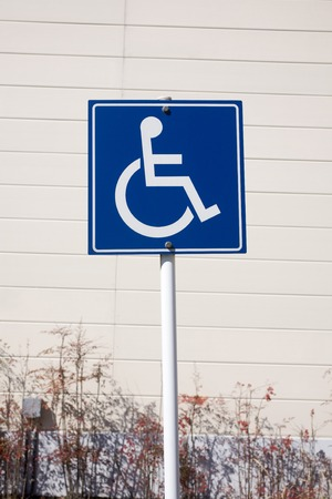 parking spaces: Parking spaces for the handicapped