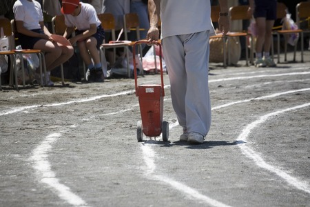 Teachers draw the line with the schoolyard of athletic meet