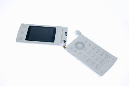 relent: Broken mobile phone Stock Photo