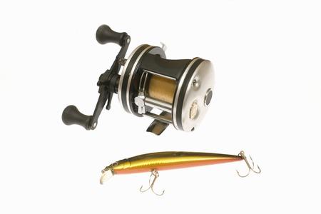 worm gear: Fishing equipment Stock Photo