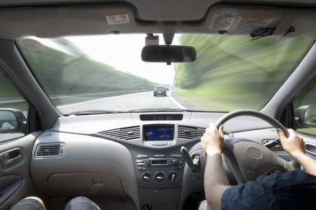 Autorijden Stockfoto