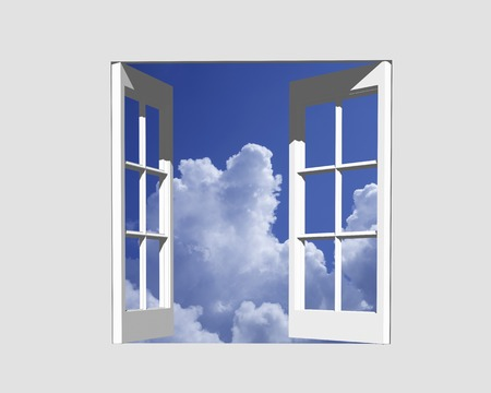 thundercloud: Thunderhead from window Archivio Fotografico