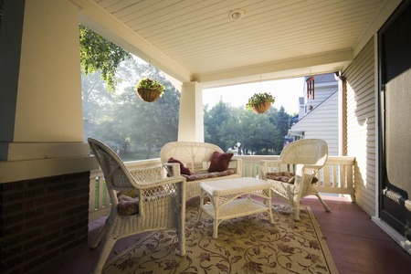 american house: American House porch