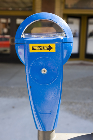 meters: Parking meters Stock Photo