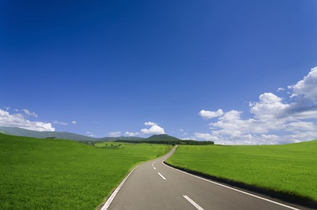 grandeur: One road. Stock Photo