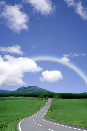 main: Rainbow and one main road