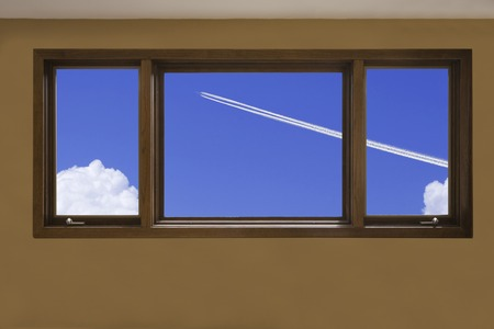 contrail: Contrail from window