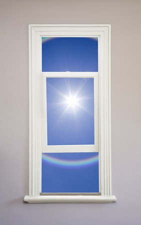 sunroom: The sun and the rainbow from white window
