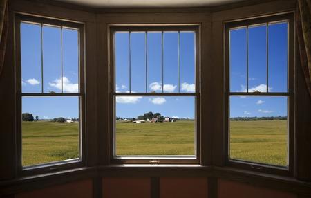 sunroom: Corn field from the window