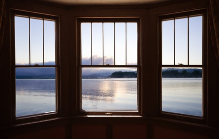 sunroom: Mississippi River from the window