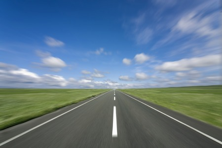 1: Clouds and 1 main road