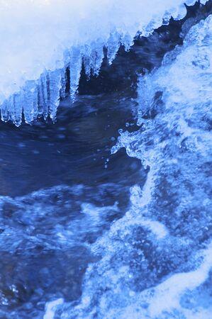 mountain stream: Ice of mountain stream Stock Photo
