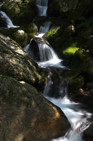 mountain stream: Mountain stream Stock Photo